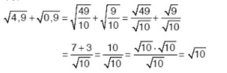 √4,9 + √0,9 toplamının sonucu aşağıdakilerden hangisidir ?