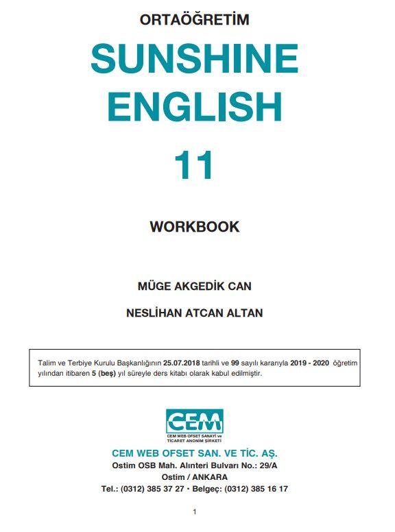 11. Sınıf İngilizce Çalışma Kitabı Çözümleri ve Cevapları Cem Yayınları