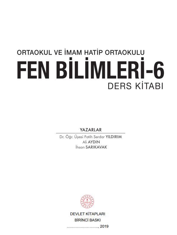 6. Sınıf Fen Bilimleri Ders Kitabı Çözümleri ve Cevapları MEB Yayınları