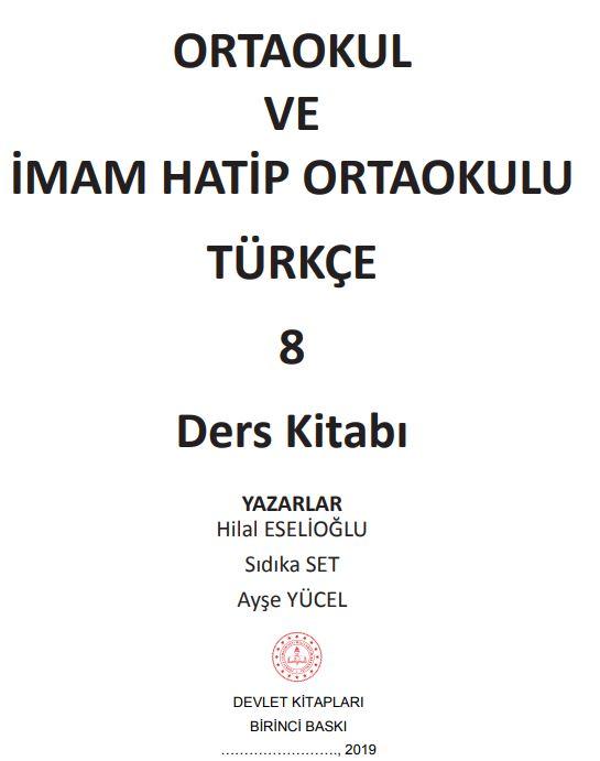 8. Sınıf Türkçe Ders Kitabı Çözümleri ve Cevapları MEB Yayınları