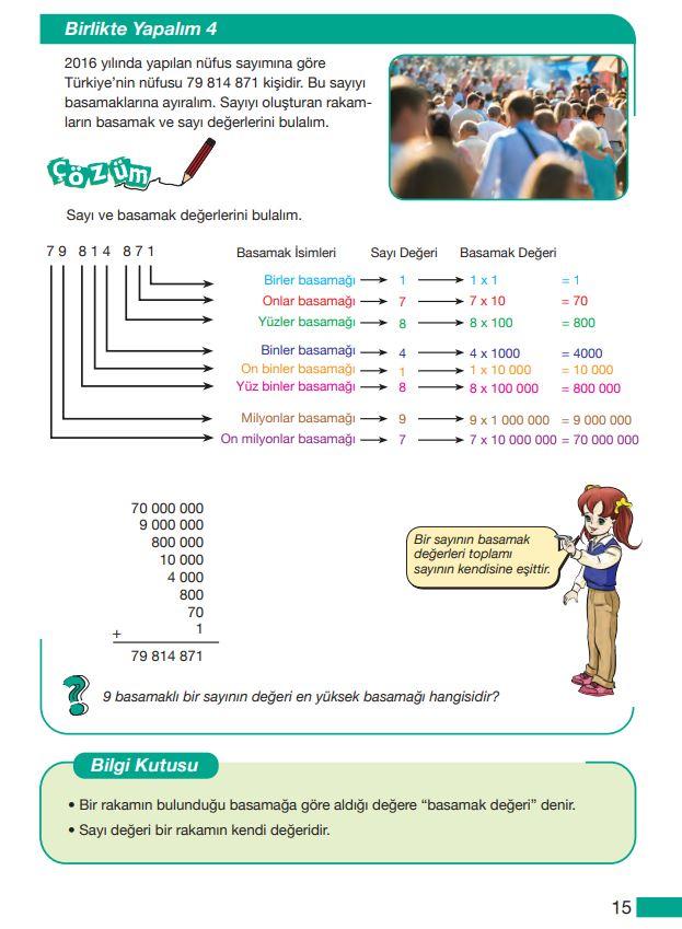 5. Sınıf Matematik Ders Kitabı Çözümleri ve Cevapları MEB Yayınları Sayfa 15