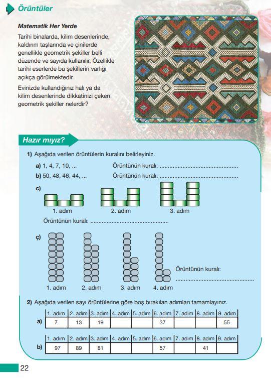 5. Sınıf Matematik Ders Kitabı Çözümleri ve Cevapları MEB Yayınları Sayfa 22