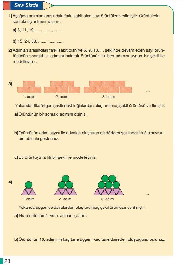 5. Sınıf Matematik Ders Kitabı Çözümleri ve Cevapları MEB Yayınları Sayfa 28