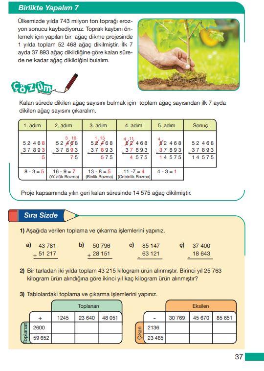 5. Sınıf Matematik Ders Kitabı Çözümleri ve Cevapları MEB Yayınları Sayfa 37