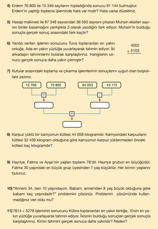 5. Sınıf Matematik Ders Kitabı Çözümleri ve Cevapları MEB Yayınları Sayfa 38