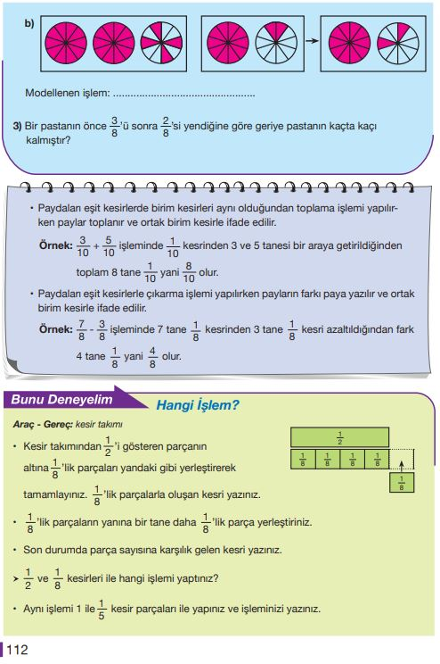5. Sınıf Matematik Ders Kitabı Çözümleri ve Cevapları Sayfa 112 MEB Yayınları