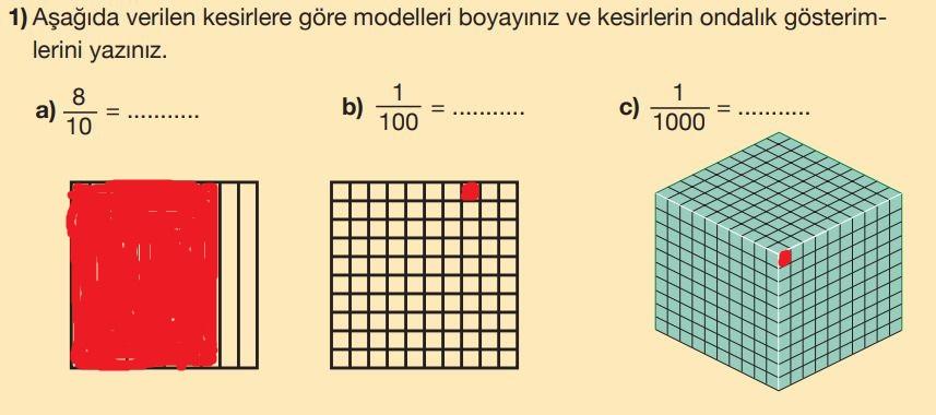 5. Sınıf Matematik Ders Kitabı Çözümleri ve Cevapları Sayfa 138-1 MEB Yayınları