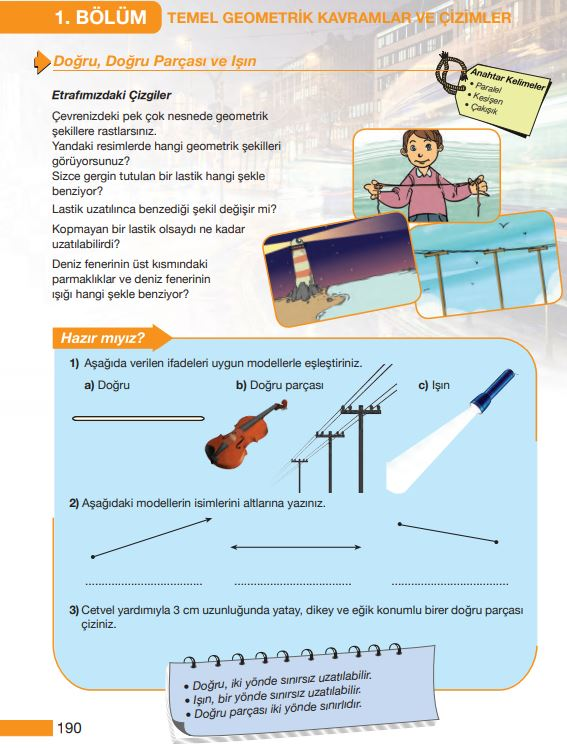 5. Sınıf Matematik Ders Kitabı Çözümleri ve Cevapları Sayfa 190 MEB Yayınları