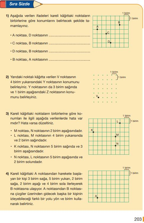 5. Sınıf Matematik Ders Kitabı Çözümleri ve Cevapları Sayfa 203 MEB Yayınları