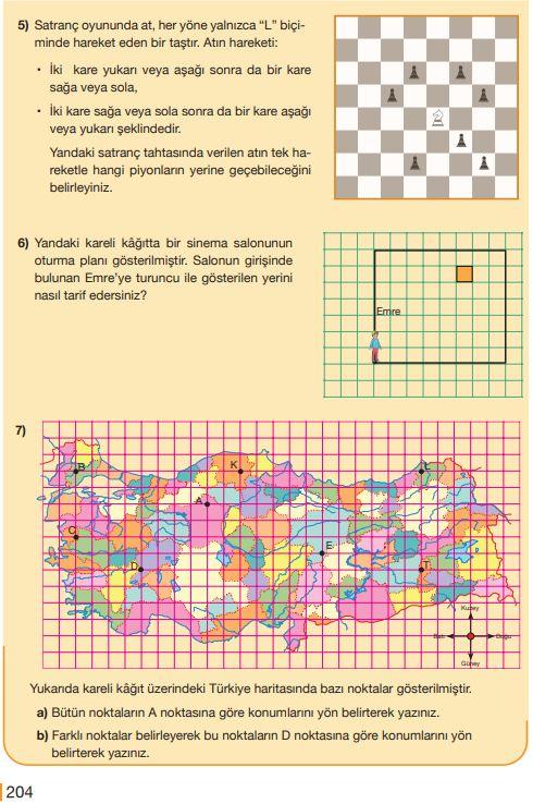 5. Sınıf Matematik Ders Kitabı Çözümleri ve Cevapları Sayfa 204 MEB Yayınları