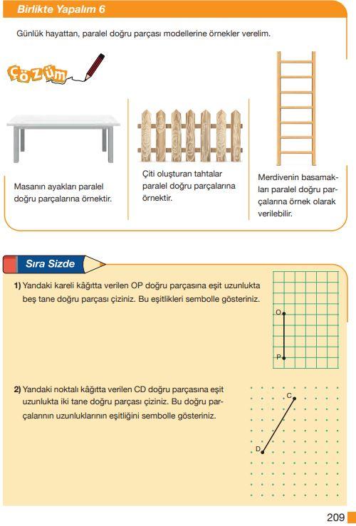 5. Sınıf Matematik Ders Kitabı Çözümleri ve Cevapları Sayfa 209 MEB Yayınları