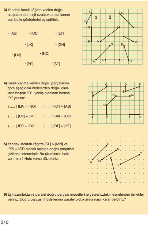 5. Sınıf Matematik Ders Kitabı Çözümleri ve Cevapları Sayfa 210 MEB Yayınları