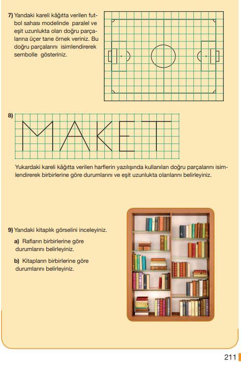 5. Sınıf Matematik Ders Kitabı Çözümleri ve Cevapları Sayfa 211 MEB Yayınları