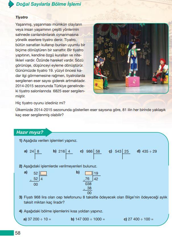 5. Sınıf Matematik Ders Kitabı Çözümleri ve Cevapları Sayfa 58 MEB Yayınları